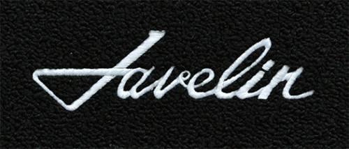 "Dante's Mopar Parts - Mopar Carpeted Floor Mats ""Javelin"" Logo - Image 1"