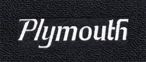 "Dante's Mopar Parts - Mopar Carpeted Floor Mats ""Plymouth"" Logo - Image 1"