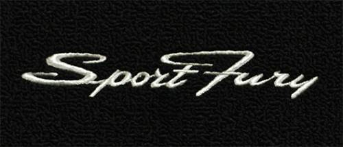 "Dante's Mopar Parts - Mopar Carpeted Floor Mats ""Sport Fury"" Logo - Image 1"