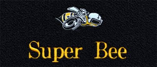 "Dante's Mopar Parts - Mopar Carpeted Floor Mats ""Super Bee"" Logo"