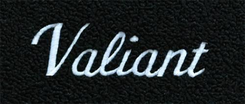 """Dante's Mopar Parts - Mopar Carpeted Floor Mats """"Valiant"""" Logo"""