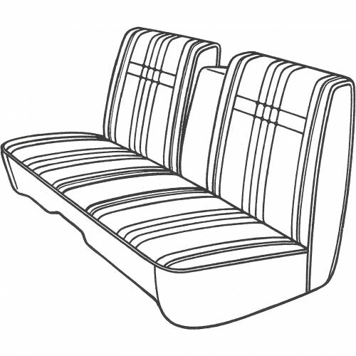 Legendary Auto Interiors - Mopar Seat Cover 1968 Plymouth Fury III Sport Suburban Wagon & Fury II 4-door Front Split Bench with Center Armrest