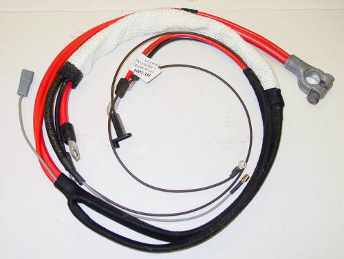 1967-1968 B-body HEMI Positive Battery Cable-Automatic Transmission with 1 prong Neutral Safety Switch - Image 1