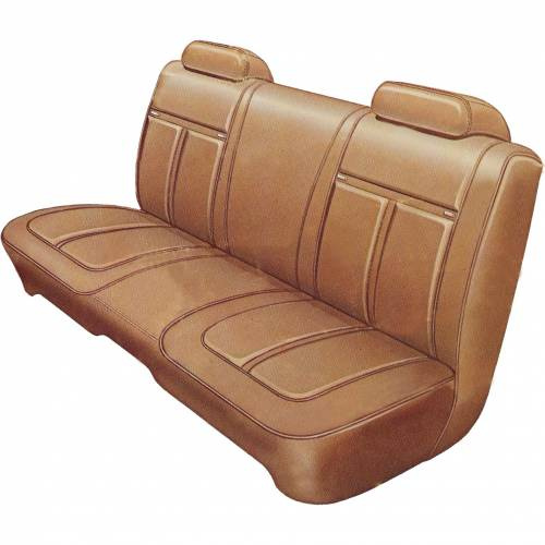 Dante's Mopar Parts - Mopar Seat Covers 1971 Satellite Sebring & Road Runner Deluxe Style B-body Front Split Bench - Image 1
