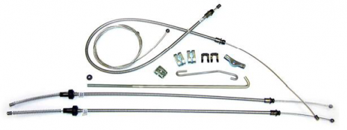 Dante's Mopar Parts - Mopar 1970-1971 E-Body Parking Brake Cable Kit with Intermediate Cable - Image 1