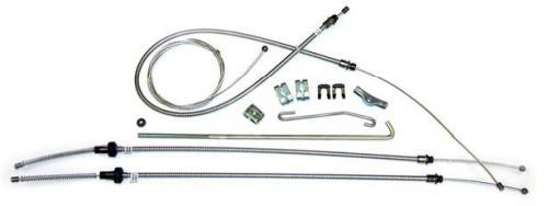 Dante's Mopar Parts - Mopar 1970-1971 E-Body Parking Brake Cable Kit with Intermediate Cable