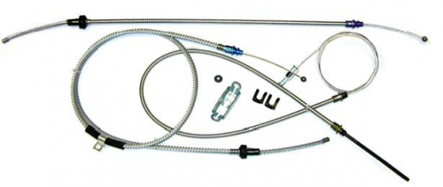 Dante's Mopar Parts - Mopar 1972-1974 Dodge Challenger Parking Brake Cable Kit with Intermediate Cable - Image 1