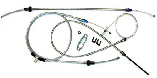 Dante's Mopar Parts - Mopar 1967-74 A-Body Parking Brake Cable Kit without Intermediate Cable - Image 1