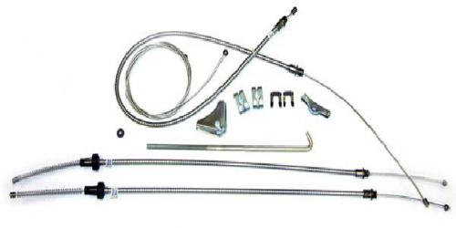 Dante's Mopar Parts - Mopar 1967-74 A-Body Parking Brake Cable Kit with Intermediate Cable