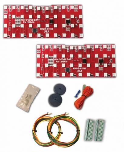 Mopar 1970 Dodge Dart, 1971-1972 Plymouth Scamp LED Tail Light Kit - Image 1