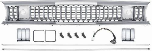 Dante's Mopar Parts - Sharktooth Grille Assembly for 1971-1972 Plymouth Duster 340 and Twister models - Image 1