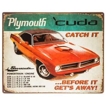 Wall Art - Mopar Decorative Metal Sign- 1970 Plymouth 'Cuda - Image 1