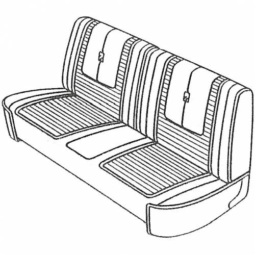Legendary Auto Interiors - Mopar Seat Covers 1967 Dodge Dart GT Front Split Bench - Image 1