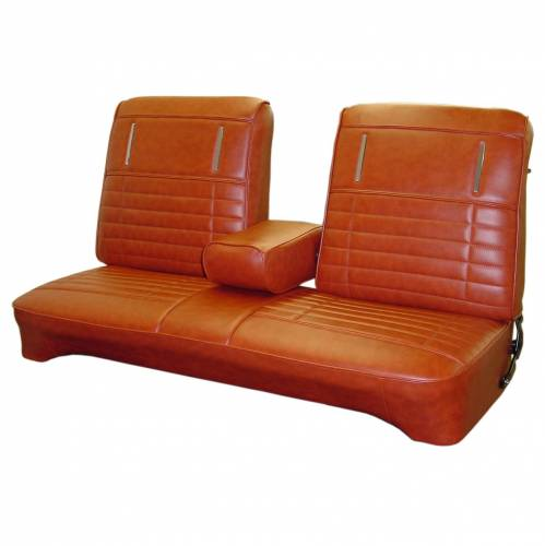 Legendary Auto Interiors - Mopar Seat Covers 1972 Duster, Duster 340, Demon & Demon 340 A-body Front Split Bench w/Armrest - Image 1