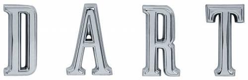 1967-1968 dodge dart quarter emblems