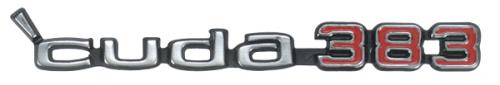 Cuda 383 hood emblem