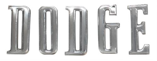 """1970-1974 Challenger """"DODGE"""" hood letters"""