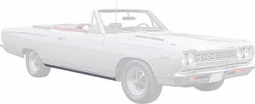 1968-1970 Plymouth B-body Rocker Moldings