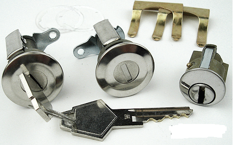 1966-1968 door/ignition lock set