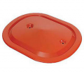 Air/Fuel System - Air Cleaners/Lids - Dante's Mopar Parts - Mopar 340/440+6 Oval Air Cleaner Orange Lid