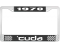 Body - License Plate Brackets/Lens - Dante's Mopar Parts - License Plate Frame-1970 Plymouth Cuda