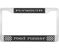 Body - License Plate Brackets/Lens - Dante's Mopar Parts - License Plate Frame- Plymouth Road Runner