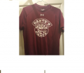 Accessories - T-Shirts - Dante's Mopar Parts - Dante's Mopar Parts Under Armour Short Sleeve T-Shirt-LARGE Burgundy