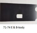 Interior - Consoles - Dante's Mopar Parts - Mopar-Console Automatic Shifter Slides- 1970 E-Body 1971-1974 E-body 1971-1974 B-body