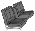 Dante's Mopar Parts - Mopar Seat Cover 1968 Chrysler 300 & Newport Front Split Bench