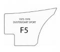 "1974-75 Dart Sport & Dart Sport 360 ""Hang 10""  Bucket & Bench Style Rear Panel"