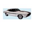 Stripes & Decals - Stripe Kits Dodge E-Body - Dante's Mopar Parts - Mopar Stripe Kit 1970 Dodge Challenger R/T