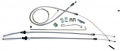 Dante's Mopar Parts - Mopar 1971-1974 B-Body Parking Brake Cable Kit
